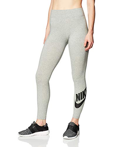 Nike Damen Sportswear Leg-A-See Futura Leggings, Dark Grey Heather/Black, M