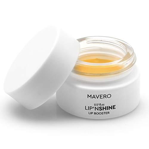MAVERO LIP´NSHINE - Lippen-Booster & Lippenpflege für vollere Lippen, Mandelöl,Shea-Butter,Bienenwachs,Capsaicin, Lip-Booster, Lip-Balm,Lip-Plumper