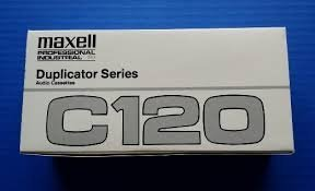 Maxell Professional Industrial Duplicator Series C120 Blank Audio Cassette Box of 20 Tapes
