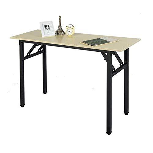LWW Tische, Klapp Computer-Schreibtisch Compact-Büro-Studien Pc Laptop Composite-Holzplatte Stahlrahmen Keine erforderlichen installieren,A,120x60x75cm