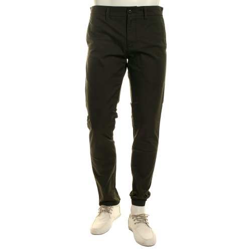 CARHARTT WIP - - Homme - Pantalon Chino Slim Tapered Stretch Sid Lamar Olive Lavé pour homme - 29/32