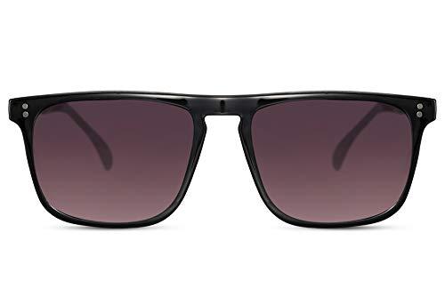 Cheapass Gafas de sol Parte Superior Lisa Rectangular Negras con Lentes Oscuras Graduales 100% con protección UV400 Hombres