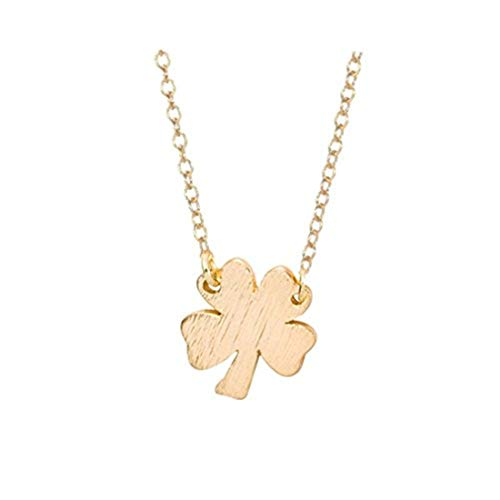 Youkeshan Hanigbibi Four Leaf Clover Necklace Woman Jewelry Gold Silver Color