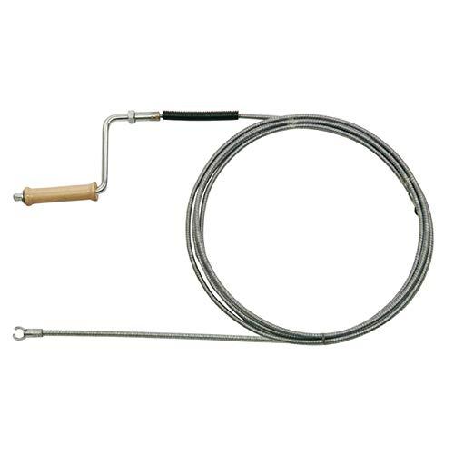 Rohrreinigungsspirale Ø 8mm x 10m, doppelt gewickelt, mit Kralle & Kurbel