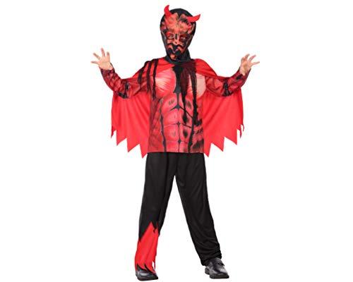 Atosa-55616 Disfraz Demonio para Niño Infantil, color rojo, 7 A 9 Años (55616)