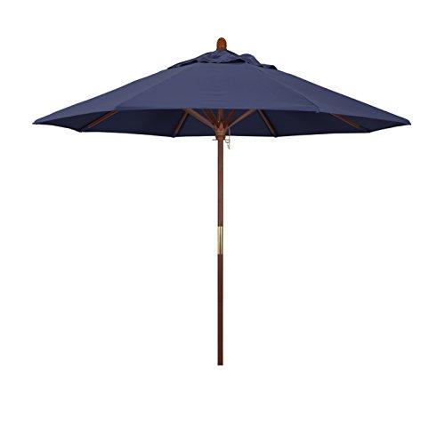 California Umbrella 9' Round Hardwood Frame Market Umbrella,...