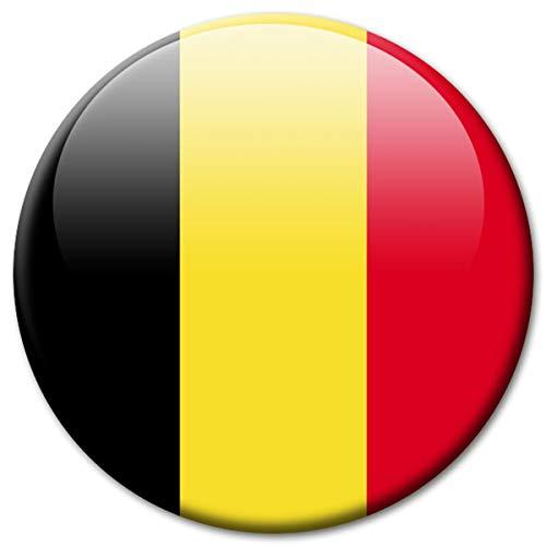 Kühlschrankmagnet Flagge Belgien Magnet Länder Flaggen Reise Souvenir für Kühlschrank stark groß 50 mm