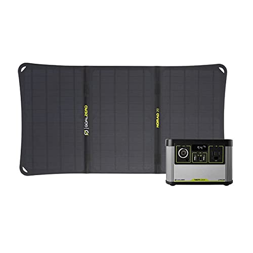 Goal Zero Yeti 200X Lithium Portable Power Station, 200-Watt-Hour Power Station with USB-C PD Fast Charging, Goal Zero Nomad 20, and Foldable Monocrystalline 20-Watt Solar Panels with USB Port