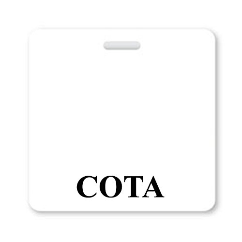 COTA Badge Buddy - Horizontal Badge Buddies for Certified Occupational Therapist Assistants - Spill & Tear Proof Cards - 2 Sided USA Printed Quick Role Identifier ID Tag Backer by Specialist ID