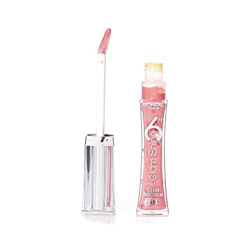 L'Oréal Paris Glam Shine 6H Lipgloss, 102 Always Pink