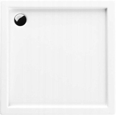 Acryl-Duschwanne 70x80x14 cm Duschtasse Competia rechteckig für Duschkabine Styroporträger extra flach Sanitär-Acryl Duschbecken stabil weiß+ Viega Tempoplex