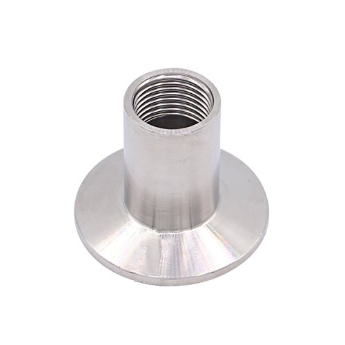 DERNORD Sanitary Female Threaded Pipe Fitting to 1.5 Inch TRI CLAMP (OD 50.5mm Ferrule) (Pipe Size: 1/2 NPT)