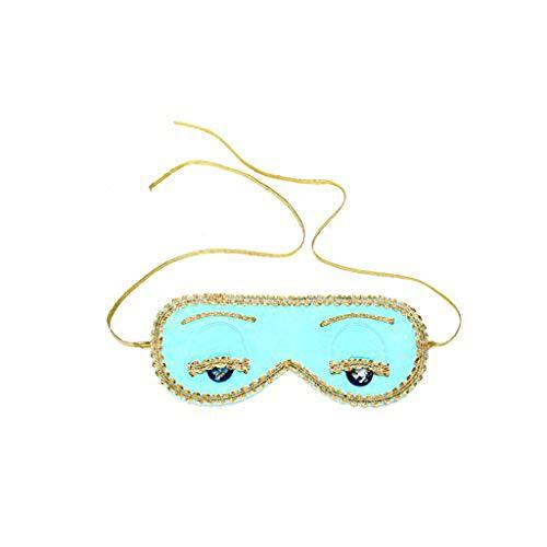 Utopiat Seide Schlafaugenmaske türkisblau Frauen inspiriert von Audrey Hepburn Stil (ohne Geschenkbox)