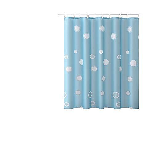Shower Curtains Duschvorhang mit Wasser- und schimmelbeständig, geeignet for Bad WC Trennwand (Color : Blue)