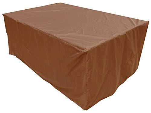 KaufPirat Premium Housse de Protection Bâche Imperméable 180x130x90 cm Couverture de Table de Jardin Housse protectrice pour mobilier de Jardin en Polyester Oxford Café Latte