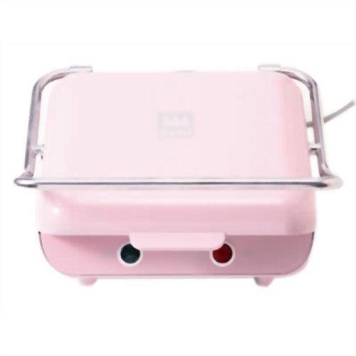 モッフル プレスもちメーカー 【毎日、美味しい、お餅のモッフル プレスもち】 2枚焼き ミルクピンク MMH-200S-MP
