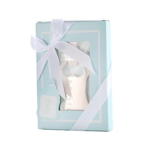 EESLL 12 apribottiglie per bebè, per ospiti o per biberon, apribottiglie in oro rosa, apribottiglie, apribottiglie, apriscatole per regali, souvenir (scatola blu)
