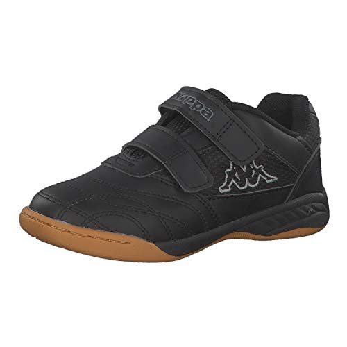 Kappa Unisex Kinder Kickoff Sneaker , Schwarz (Black/Grey 1116), 28