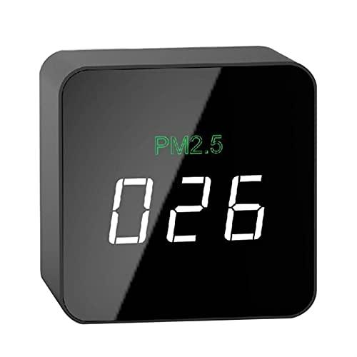 Mijpojan Herramientas de mano de Detector de calidad de aire interior portátil Formaldehído filtro TVOC HCHO Datos de tiempo real Tester preciso con pantalla OLED