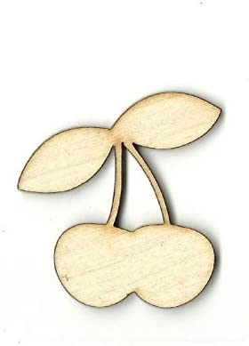 Cherries - Laser Cut Out Unfinished Supply Shape OFFicial store DLET Wood Craft Max 46% OFF