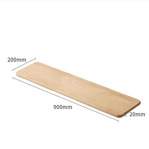 Drijvende Planken, Houten Decoratieve, Vintage Stijl Opslagplanken, Interieur Hangende Decoraties, Displayrek,Walnoten Plank-Harde Esdoorn_900X200X20Mm