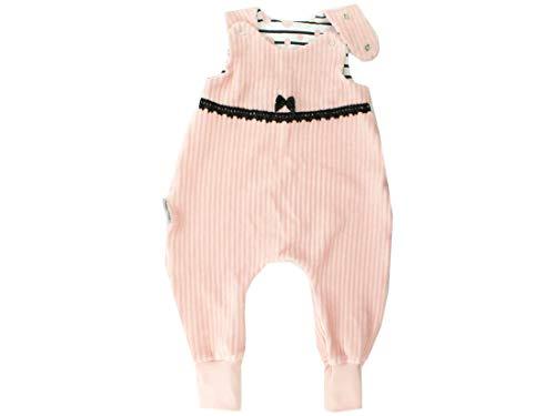 Kleine Könige Body pour bébé avec petit rose/dentelle - Certifié Ökotex 100 - Tailles 50-92 - Rose - 86/92 cm