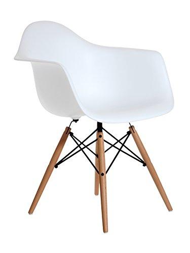 Aryana Home (ARYA6) Eames Réplica Sessel, Polypropylen, weiß, 59x62x82.5 cm