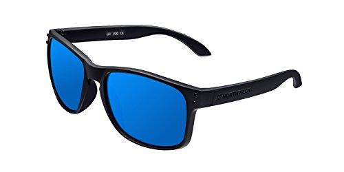 Northweek Bold Jibe - Gafas de Sol para Hombre y Mujer, Polarizadas, Negro/Azul