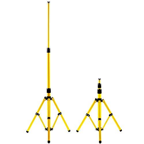 Hengda Stativ für LED-Strahler Höhenverstellbar Flutlicht Ständer Baustrahler Stahlstativ LED Fluter Arbeitsleuchten und Flutern – Gelb