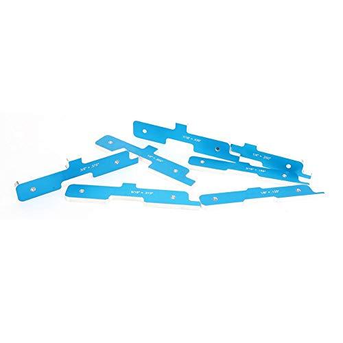 7 piezas/juego de barra de configuración de carpintería de color azul, barra de configuración de mesa de enrutador, para hardware de carpintería, calibre de carpintería, equipo de