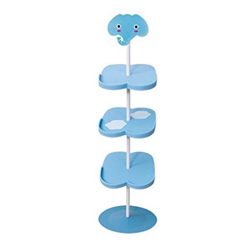 Shoe rack CWT Family - Zapatero vertical para niños (color: azul, tamaño: cuatro rejillas)