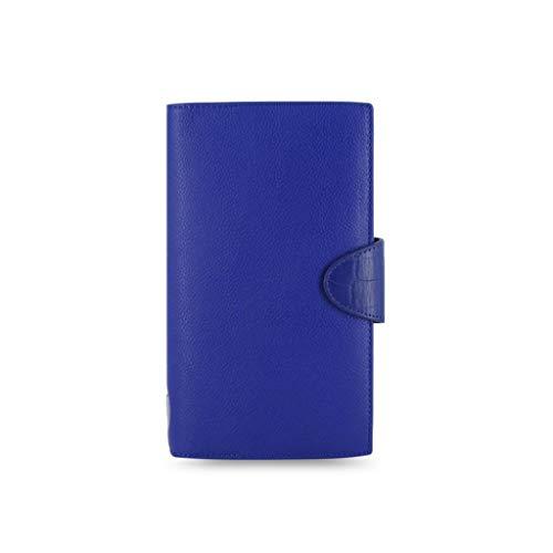DWQ Tagebuch A6 Leder-Notizbuch-PU-Journal-Schreibbuch-Notizbuch-Tagebuch-Feinqualität Papiergeschenke Für Ehefrau-Ehemann-Geschenk-Geburtstagsgeschenk Tragbar (Color : Blue)