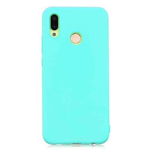cuzz Funda para Huawei P20 Lite+{Protector de Pantalla de Vidrio Templado} Carcasa Silicona Suave Gel Rasguño y Resistente Teléfono Móvil Cover-Azul Claro