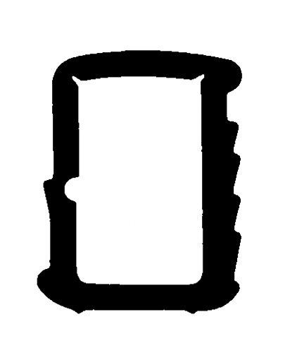 5m-Stahlzargendichtung Türdichtung 12mm x 16mm WZ 1110 in Braun, Grau, Weiss Farbe Grau