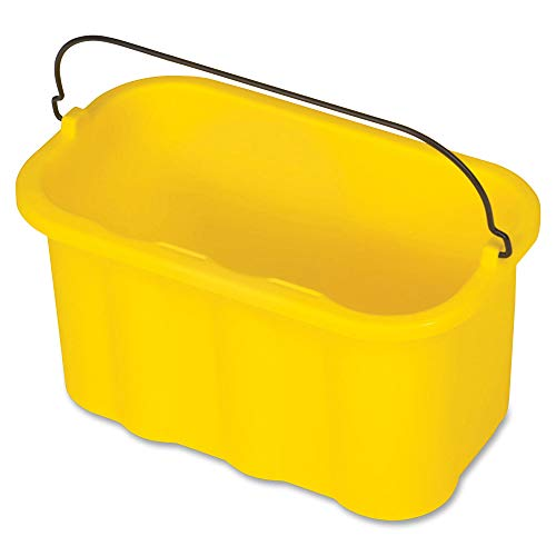 Rubbermaid Commercial Products, 10 Quart Sanitizing Cleaning Caddy Supplies Organizer, Housekeeping Cart Accessories, Yellow