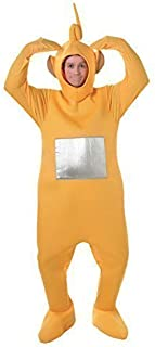 Official Licensed Mens Ladies Tinky Winky Po Dipy Laa-Laa Red Green Purple Yellow Teletubby Teletubbies Hen Stag Do Cartoon Fancy Dress Costume Outfit (Yellow)