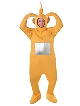 Official Licensed Mens Ladies Tinky Winky Po Dipy Laa-Laa Red Green Purple Yellow Teletubby Teletubbies Hen Stag Do Cartoon Fancy Dress Costume Outfit  Yellow
