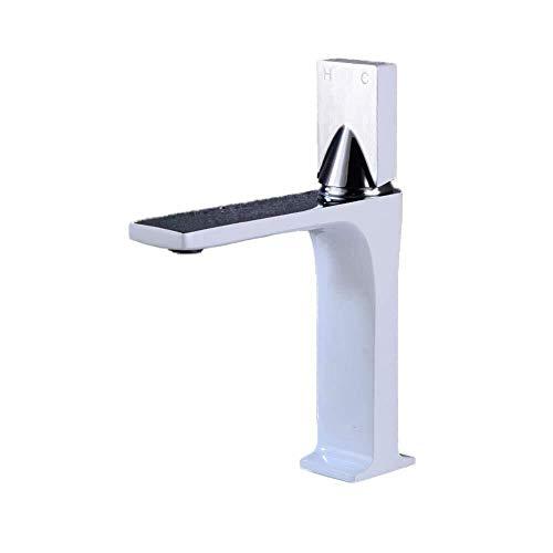 Jian E badkamer wastafel kranen wastafel kraan kraan koper warm en koud water mengen blender wastafel badkamer keuken hotel wit chroom oppervlak -eenvoudige installatie