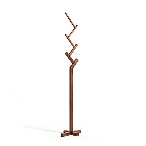 LXLA- Porte-manteaux d'arbre Porte-manteaux au sol étagère Simple cintres verticaux assemblés en bois chêne blanc bois couleur rétro couleur 187 × 40 × 30 cm (Couleur : Rétro couleur)