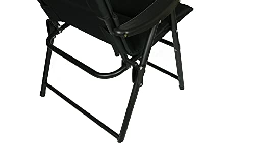 Hyfive Folding Deck Dining Chair For Outdoor Garden Camping With Luxury Padding Black