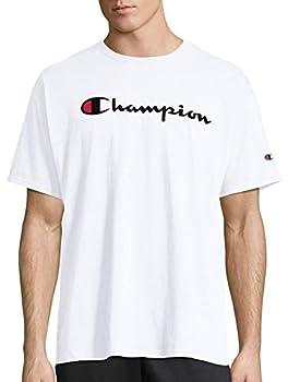 Champion Men s Classic Jersey Script T-Shirt White Large