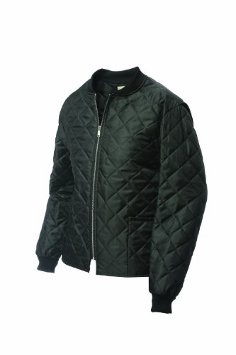 Work King Men's Quilted Freezer Jacket, Black, Large