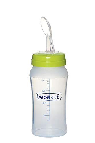 Bebé Due – fles met lepel, 230 ml