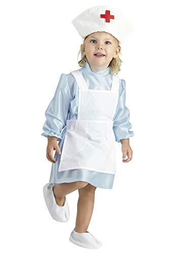 Clown Republic 04712/12 - Disfraz de enfermera para niña, color blanco