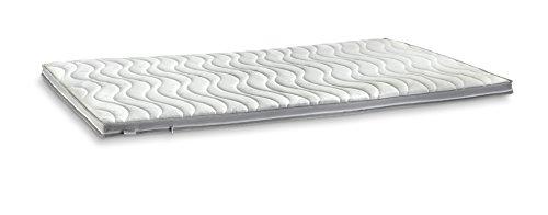 snoozo Bezug für Topper/Matratzenauflage | Allergikerfreundlich | abnehmbar und waschbar | wahlweise mit 3D-Mesh-Klimaband und Stegkanten (3D-Exclusive Bezug, 180 x 200 cm)