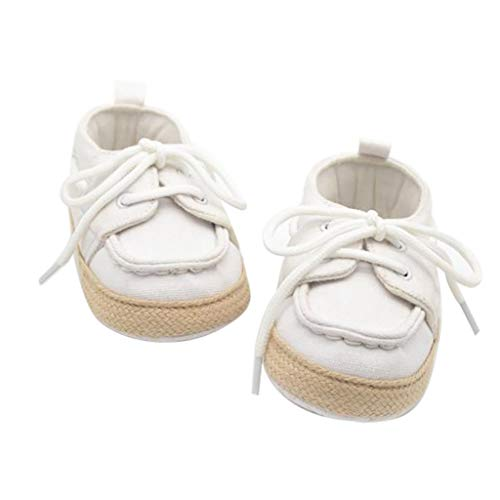 Krabbelschuhe Babyschuhe Lauflernschuhe Kleinkind Ronamick Soft Sohle Sneaker Prinzessin Krabbel(0~6 Monate, Weiß)