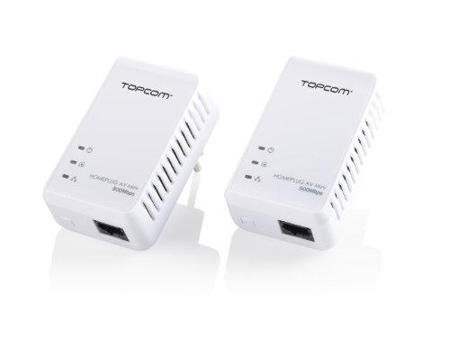 Topcom NS-6700 - Adaptador de comunicación por línea eléctrica, Blanco