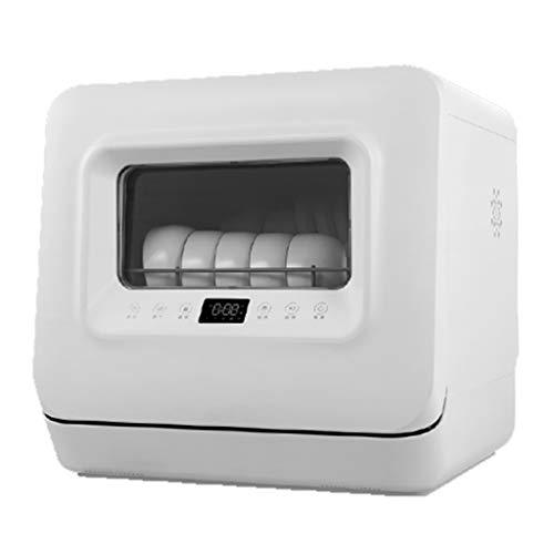 Lavavajillas automático doméstico pequeño escritorio inteligente tazón lavadora instalación gratuita 5 juegos de cocina secado automático de llenado de agua, ahorro de energía lavado súper rápido