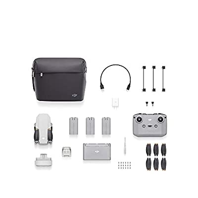 DJI Mini 2 Fly More Combo (UK) + Care Refresh (Auto-activated) - Ultralight and Portable Drone, Transmission 6 Km, 3-Axis Gimbal, Video HD 4K, service plan Included, Covers a Wide Variety of Accidents