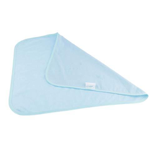 Milageto Protección de Forro de Almohadillas Blandas de Absorción para Camas Superficies de Muebles - Azul
